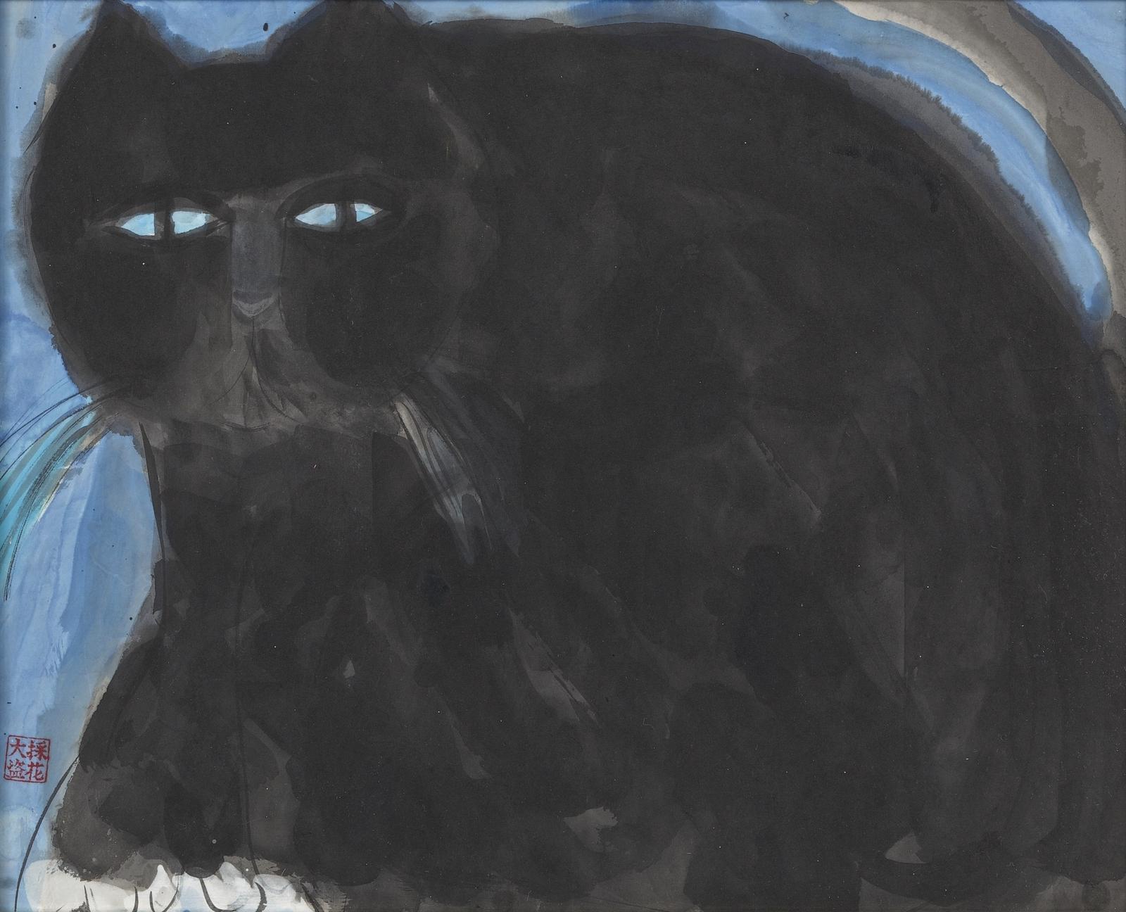 Кот (Cat)_47.8 х 60_бумага, акрил_Частное собрание.jpg