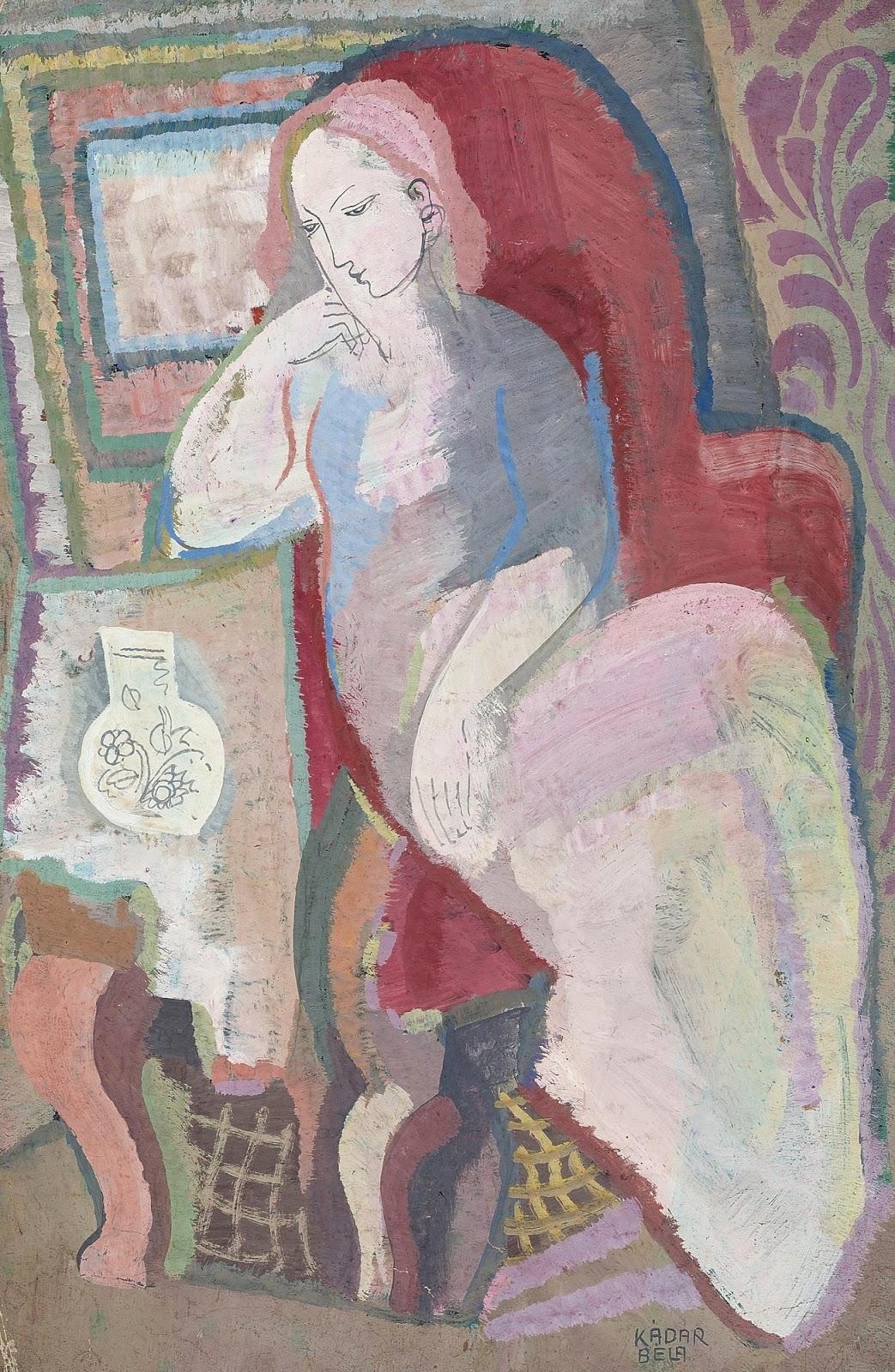 Женщина, сидящая в кресле_47 x 30.1_бумага, гуашь_Частное собрание.jpg