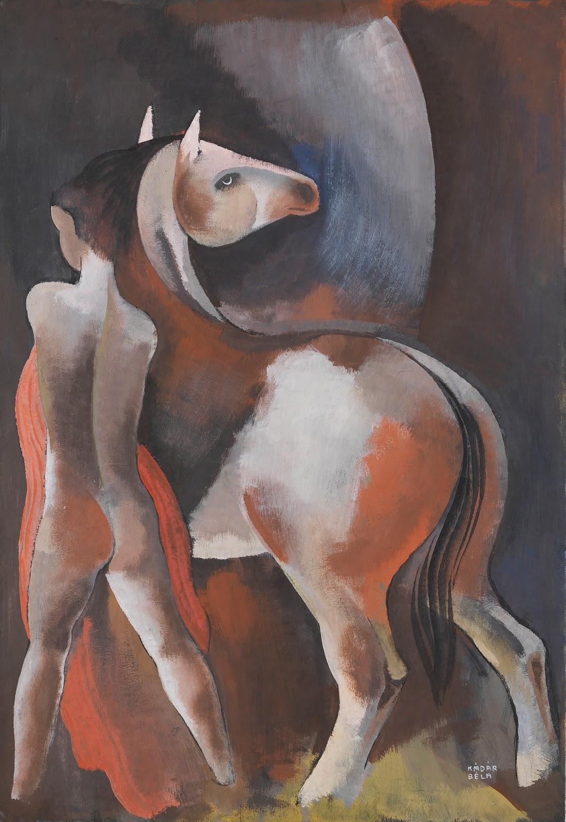 Мужчина с лошадью_84,5 х 58,2_бумага, гуашь_Частное собрание.jpg