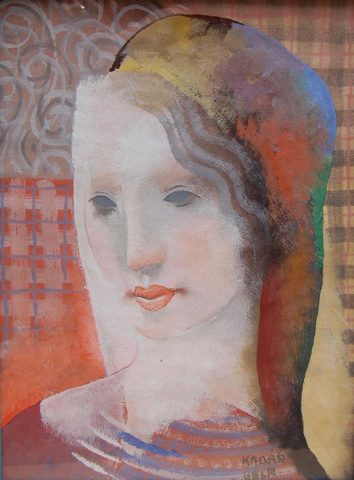 Портрет молодой женщины_бумага, гуашь_Частное собрание.jpg