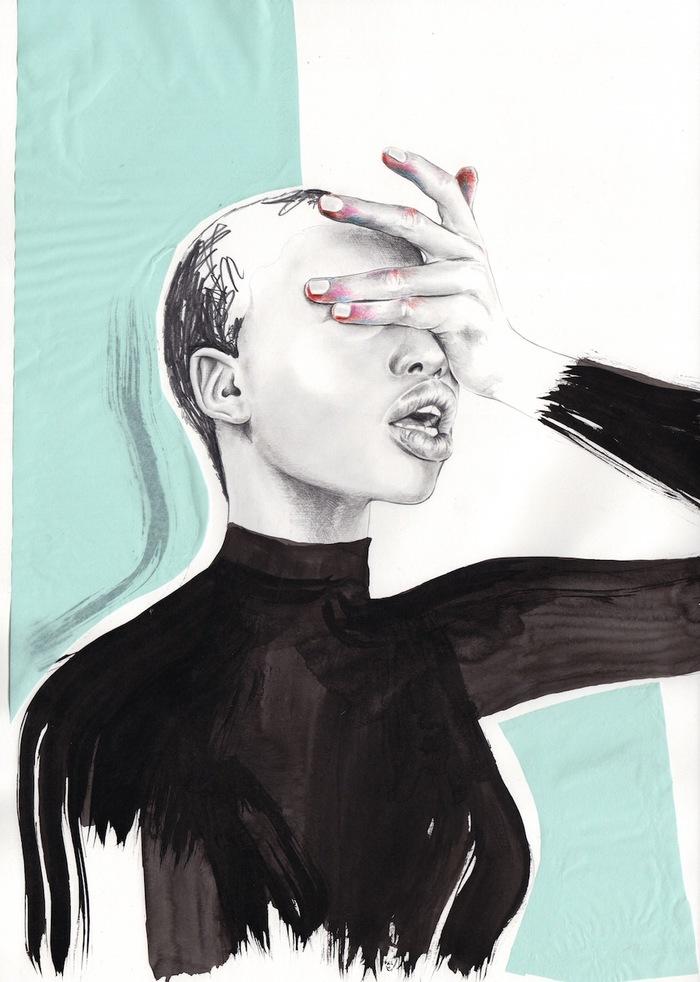 Как можно рисовать моду Искусства, Эйнара, Гранума, Школе, училась, иллюстратор, живет, степень, бакалавра, художеств, Норвегия, Академии, коммуникации, области, визуальной, норвежский, нарасхват, становится, более, реалистичной