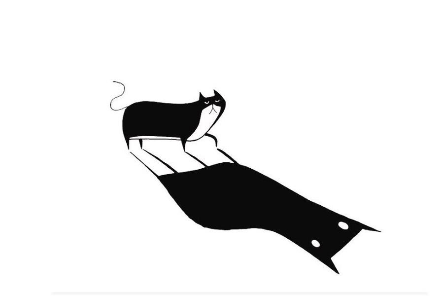 Черно-белые коты и газетные мыши