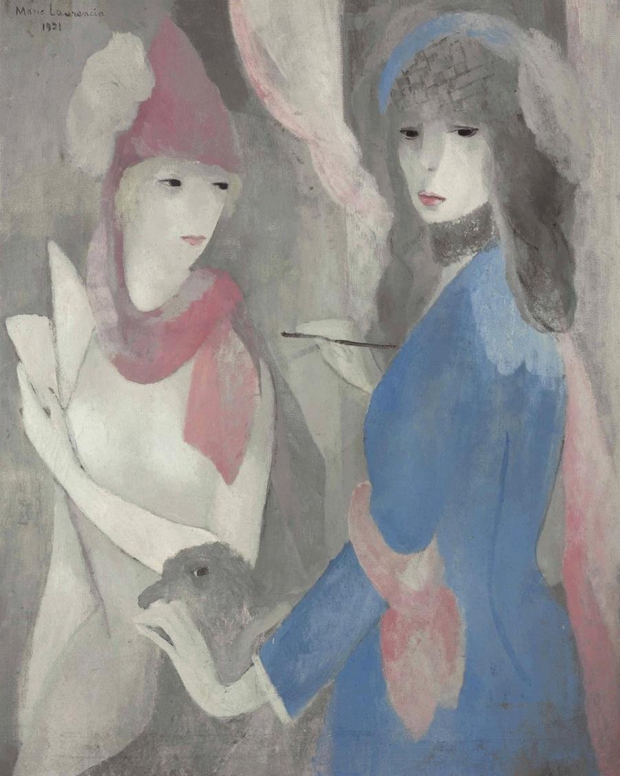 1921_Художница и ее модель (Femme peintre et son modele)_80.6 x 65_х.,м._Частное собрание.jpg