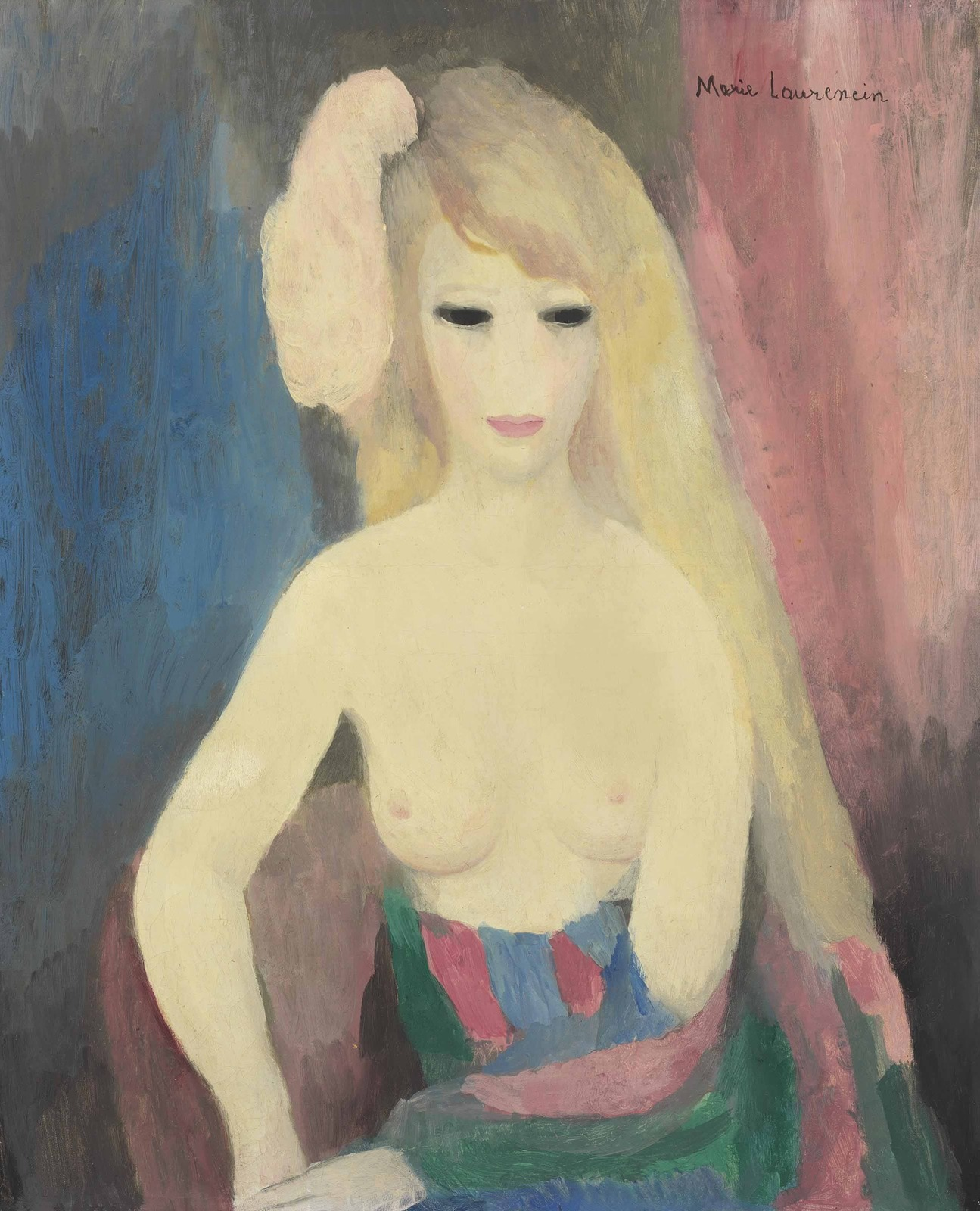 1926 (ок)_Женщина с обнаженной грудью (Femme aux seins nus)_61.5 x 50.4_х.,м._Частное собрание.jpg