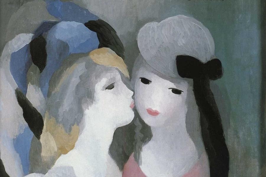 1927_Девушки, поцелуй (Jeunes Filles Le Baiser)_х.,м._Частное собрание.jpg
