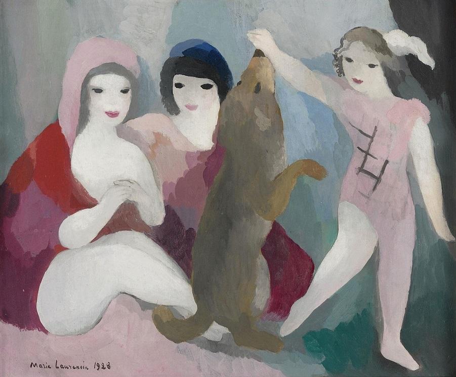 1928_Три женщины и собака (Trois Femmes Et Chien)_38 х 46_х.,м._Частное собрание.jpg