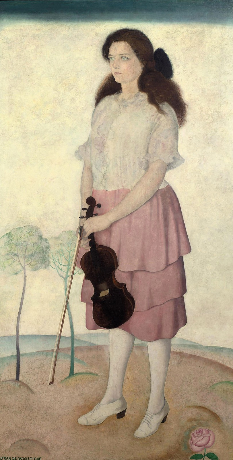 1920_Адриенна со скрипкой (Adrienne with a violin)_210 х 110_х.,м._Частное собрание.jpg