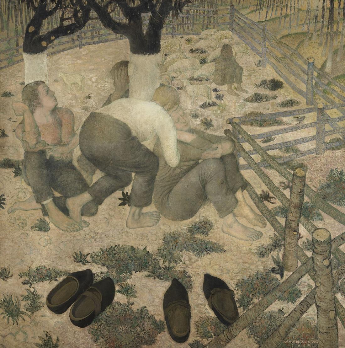De_slapers,_Gustave_Van_de_Woestyne,_1918,_Koninklijk_Museum_voor_Schone_Kunsten_Antwerpen.jpg