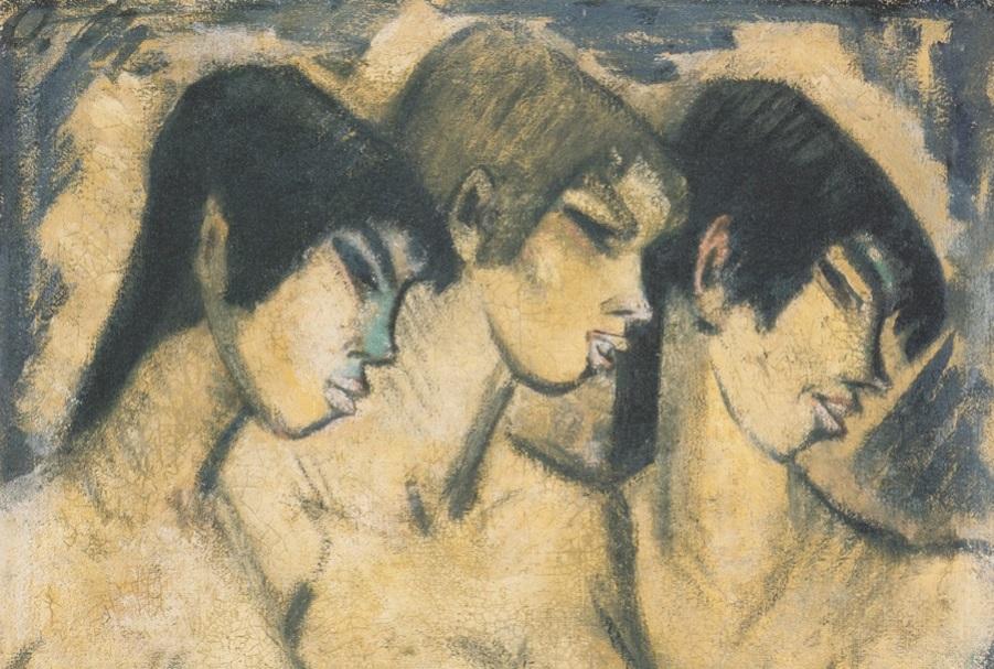 Живопись_Otto-Mueller_Drei-Mädchen-im-Profil-1918.jpeg