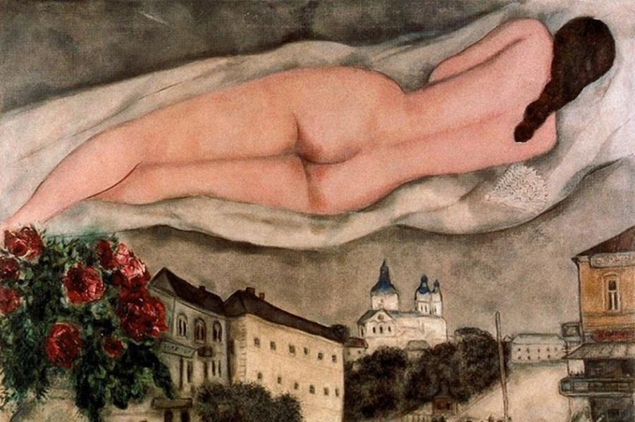 Marc CHAGALL (1887-1985) - Il mondo sottosopra by Catherine La Rose.jpg
