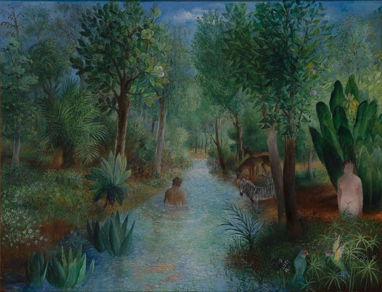 Olga Sacharoff, Jardin DEeden, oil on canvas, 114 x 146,50 cm (44,46 x 57,14 in)web.jpg