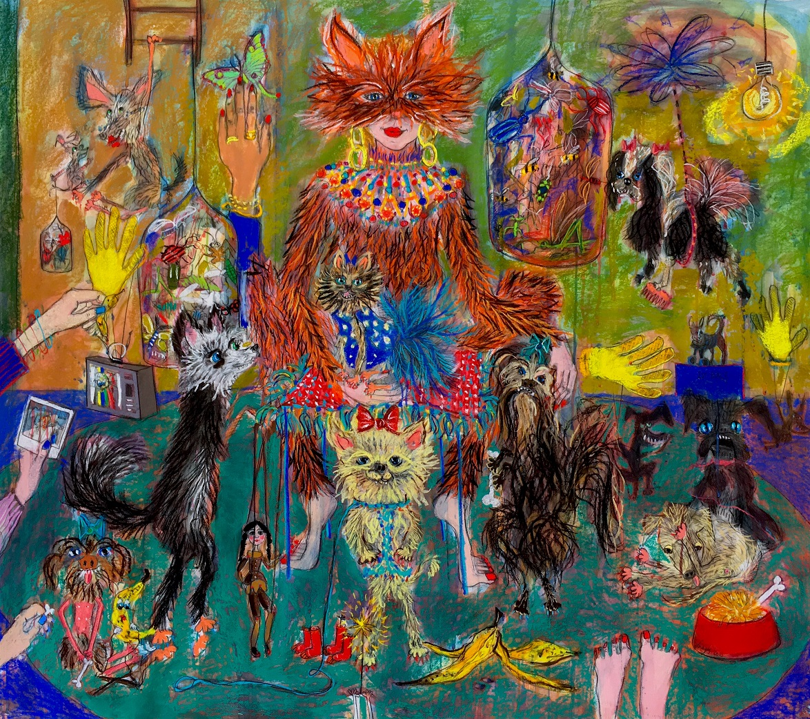 Stellas-Dog-Show-155-x-138-cm-Pastel-and-ink-on-paper-2018- (1).jpg