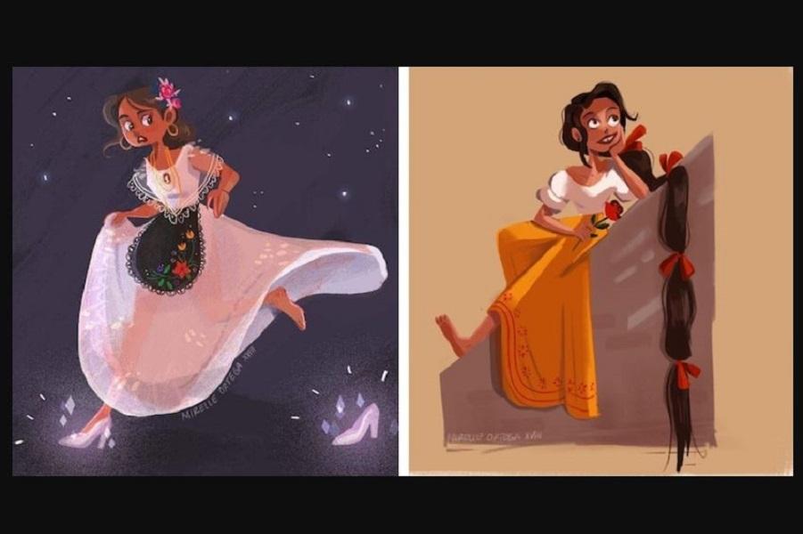 Диснеевские принцессы по-мексикански