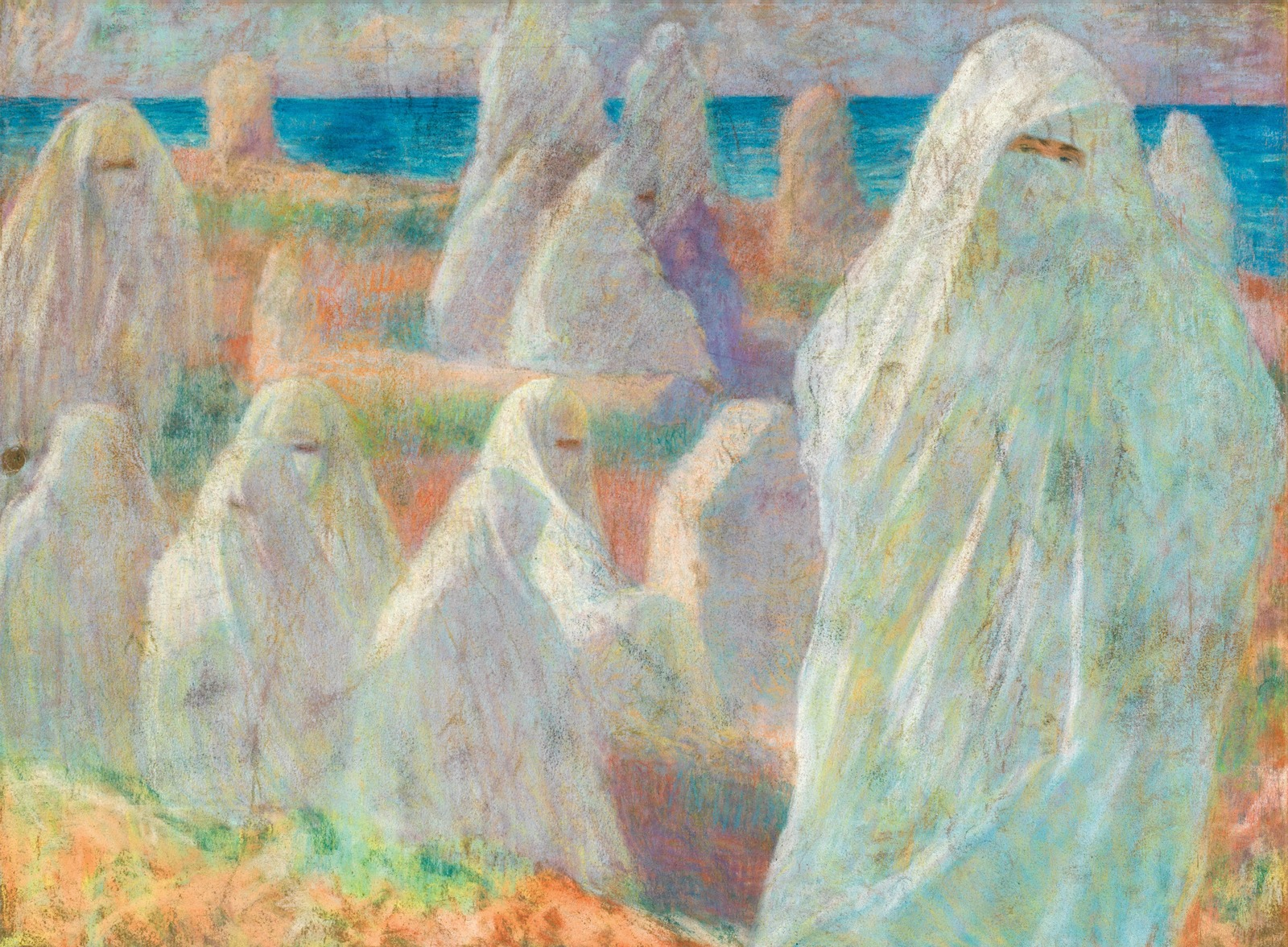 Алжирские женщины на берегу озера (Algerian women on the bank of a lake) (оборотная сторона)_60 х 85_бумага, пастель_Частное собрание.jpg