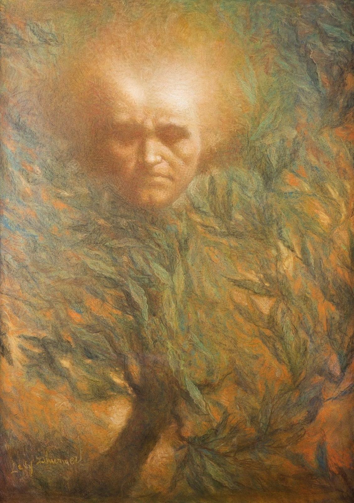 Бетховен, маска (Beethoven, le masque)_88 х 62_пастель_Частное собрание.jpg