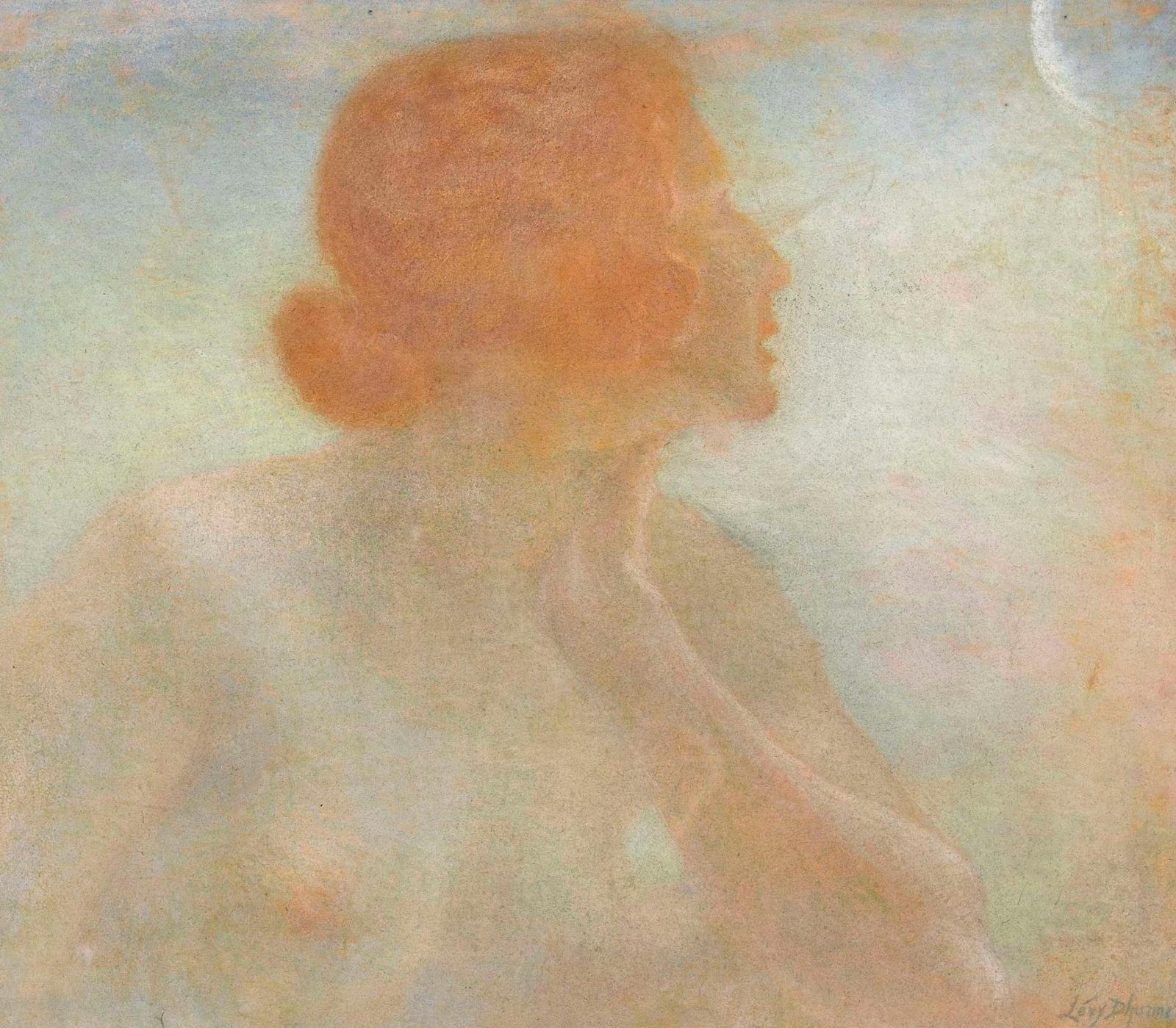 Женщина и луна (Femme et la lune)_46.5 х 53.5_пастель_Частное собрание.jpg