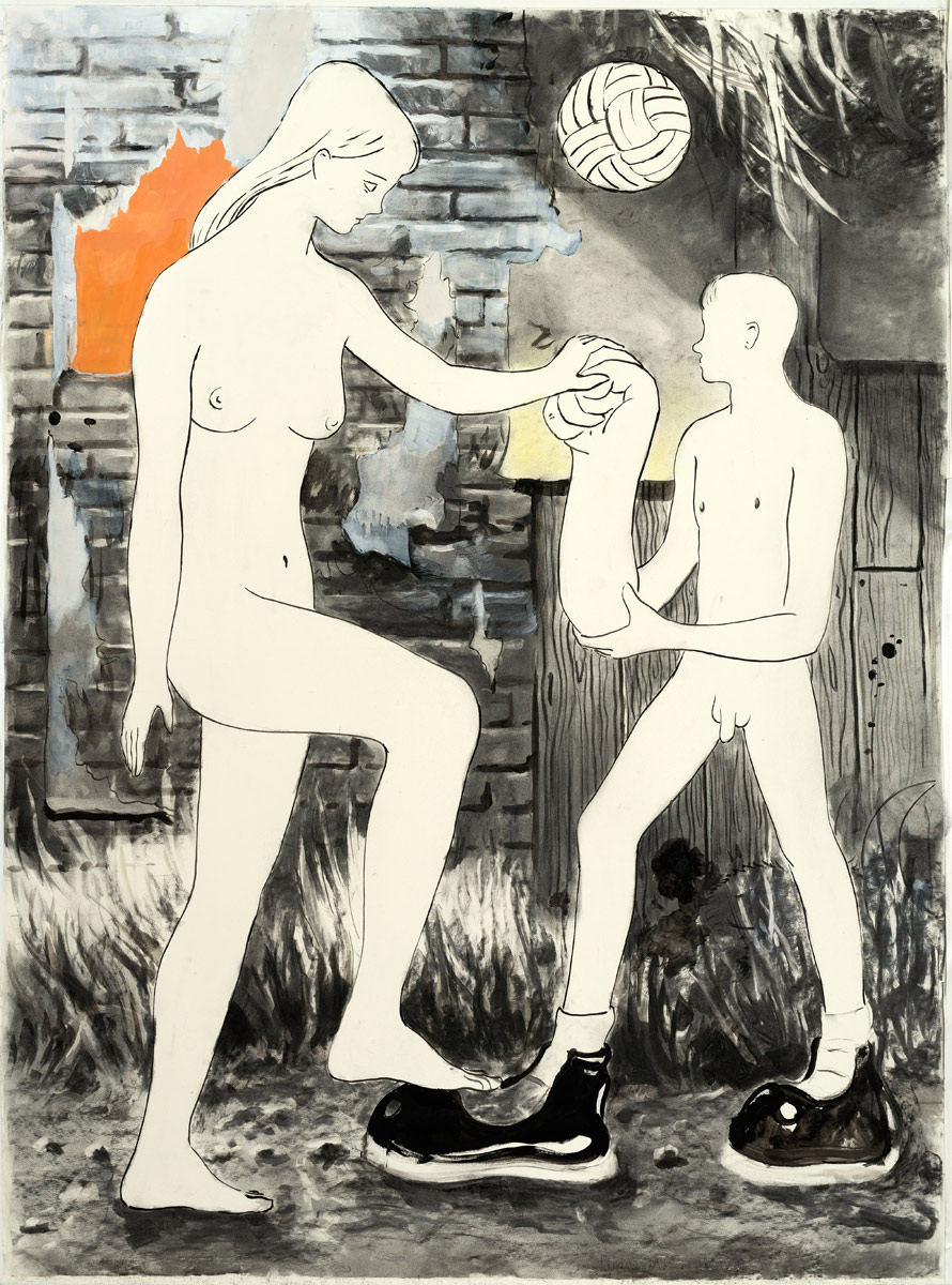 Baumgärtel-Willen-und-Wellen,-2015,-Charcoal,-ink,-oil-and-pigment-in-paper-140x220cm.jpg