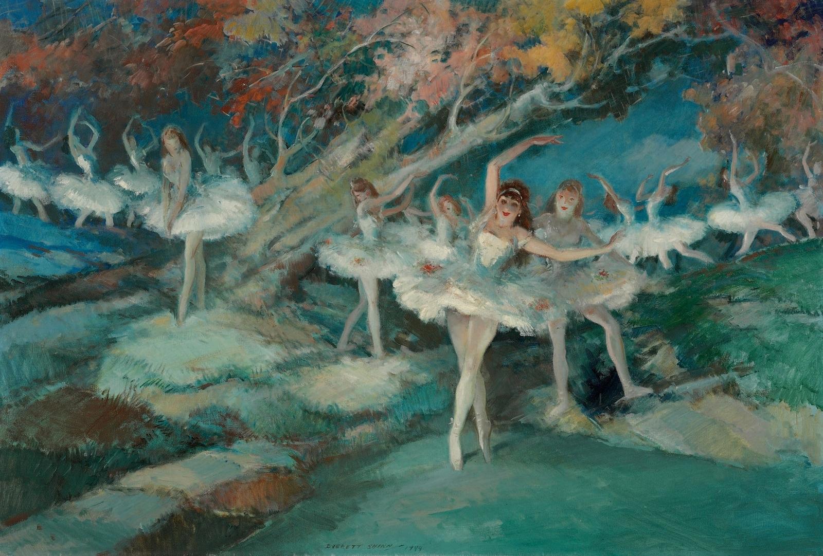 1944_Балет (Ballet)_53.3 x 78.8_х.,м._Частное собрание.jpg