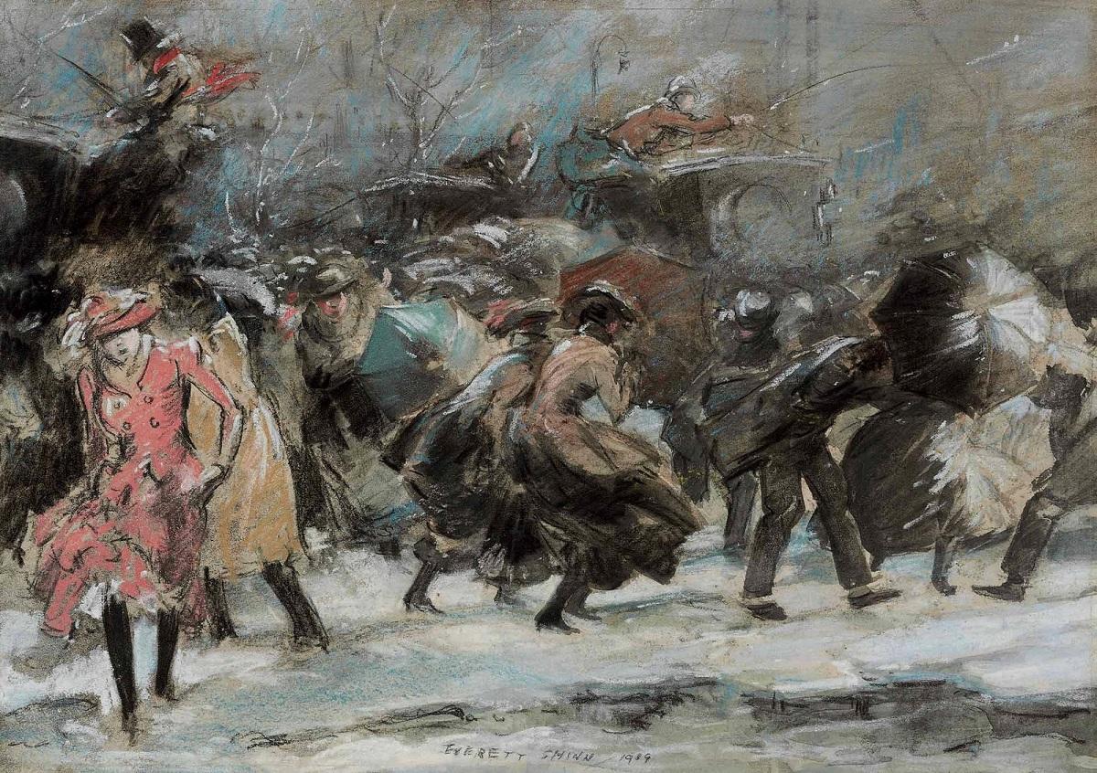 Everett Shinn Snowstorm Broadway, 1909.jpg