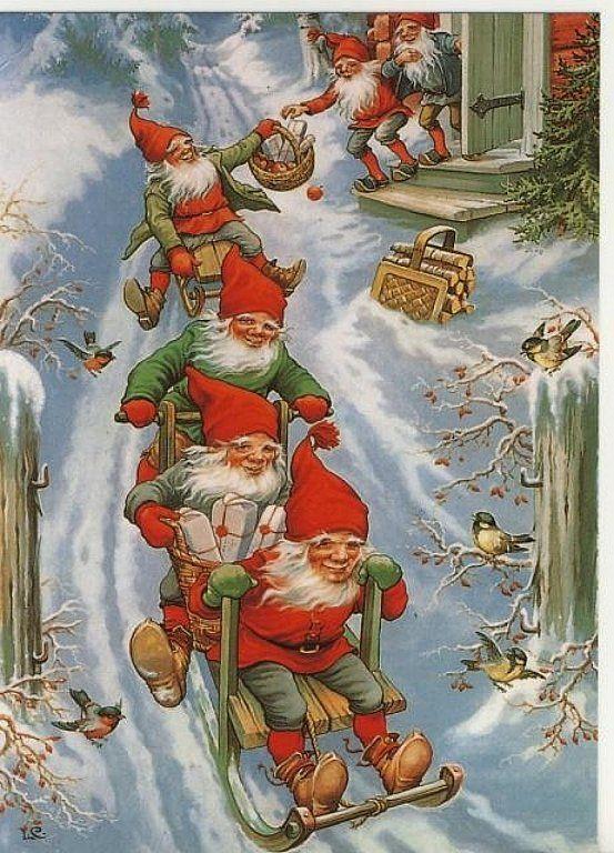 Финские открытки с новым годом, имя лиза