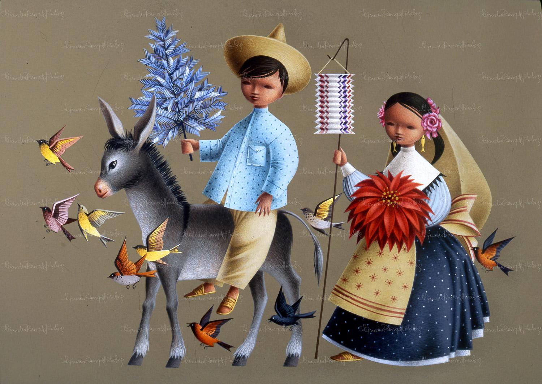 Alejandro-Rangel-Hidalgo-artista-mexicano-pintor-colimense-Nogueras-Colima-PASTOR-Y-PASTORA-CON-BURRO-COLECCION-NAVIDENA.jpg