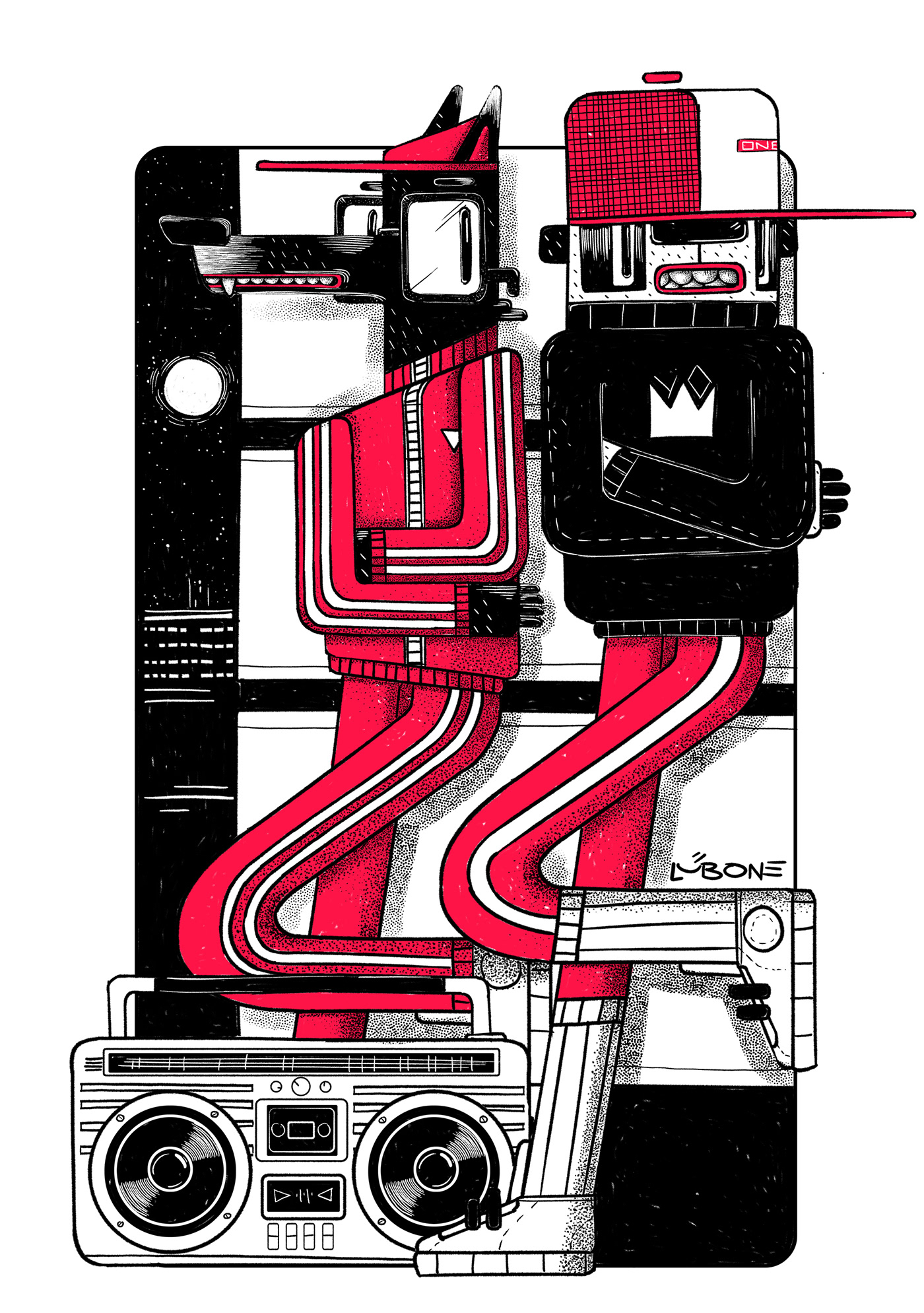 Lub One Иллюстрация, Цифровое искусство, Дизайн персонажей (3).jpg