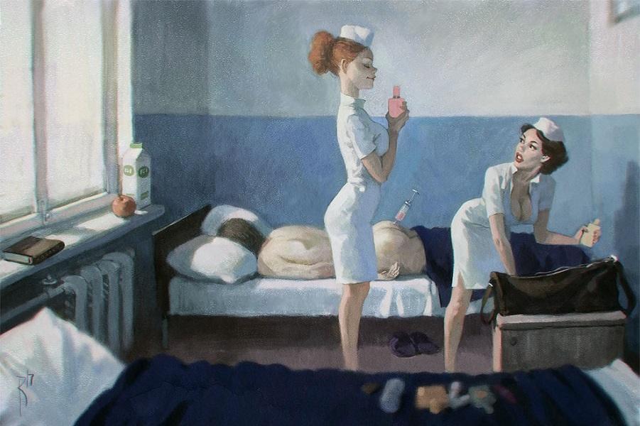 Фантастические иллюстрации Вальдемара фон Козака. Много новых