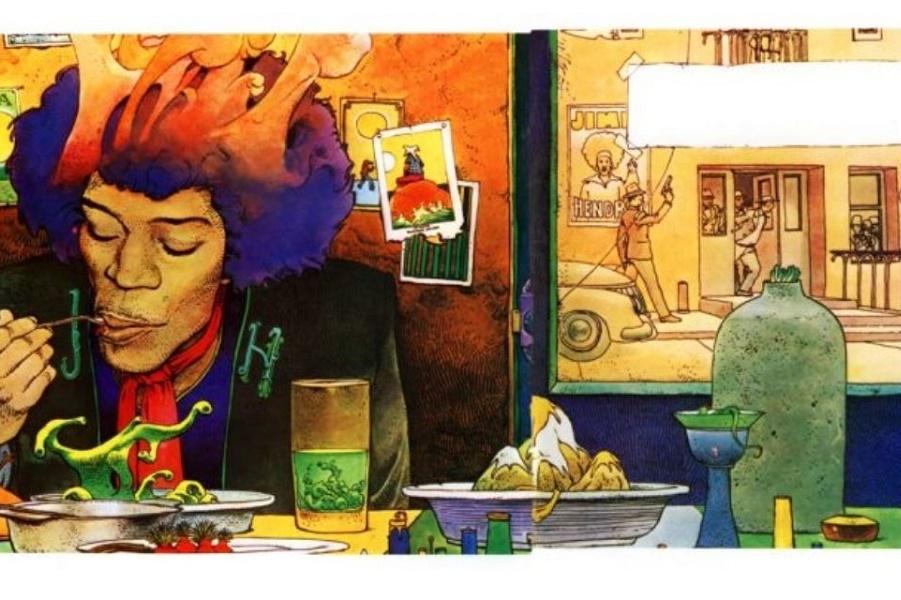 Пир с супом вуду: психоделические иллюстрации Мебиуса Джими Хендрикса