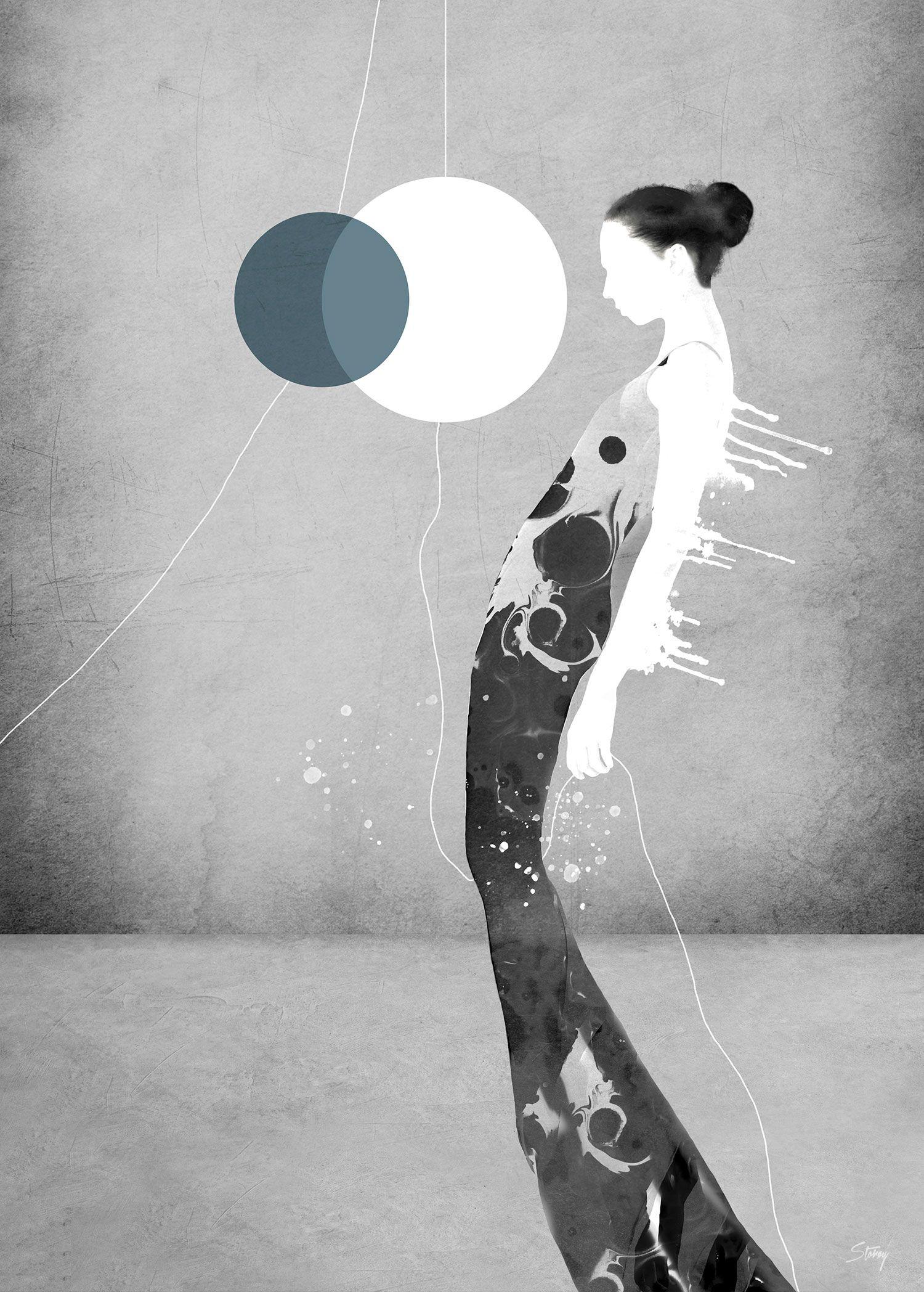 Лирические портреты художника Сив Сторёй иногда, могут, привести, вместе, смешанные, считаю, разные, интересному, результату», всегда, меняется», волнительно, очень, говорит, «Неожиданное, счете, конечном, плакаты, картины, гравюры