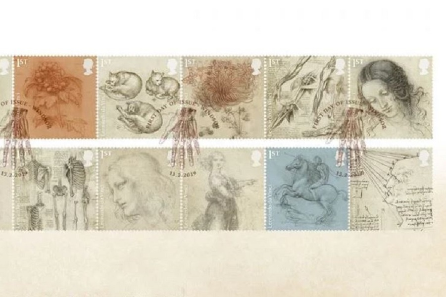 Самые известные работы Леонардо да Винчи теперь появятся на почтовых марках Великобритании