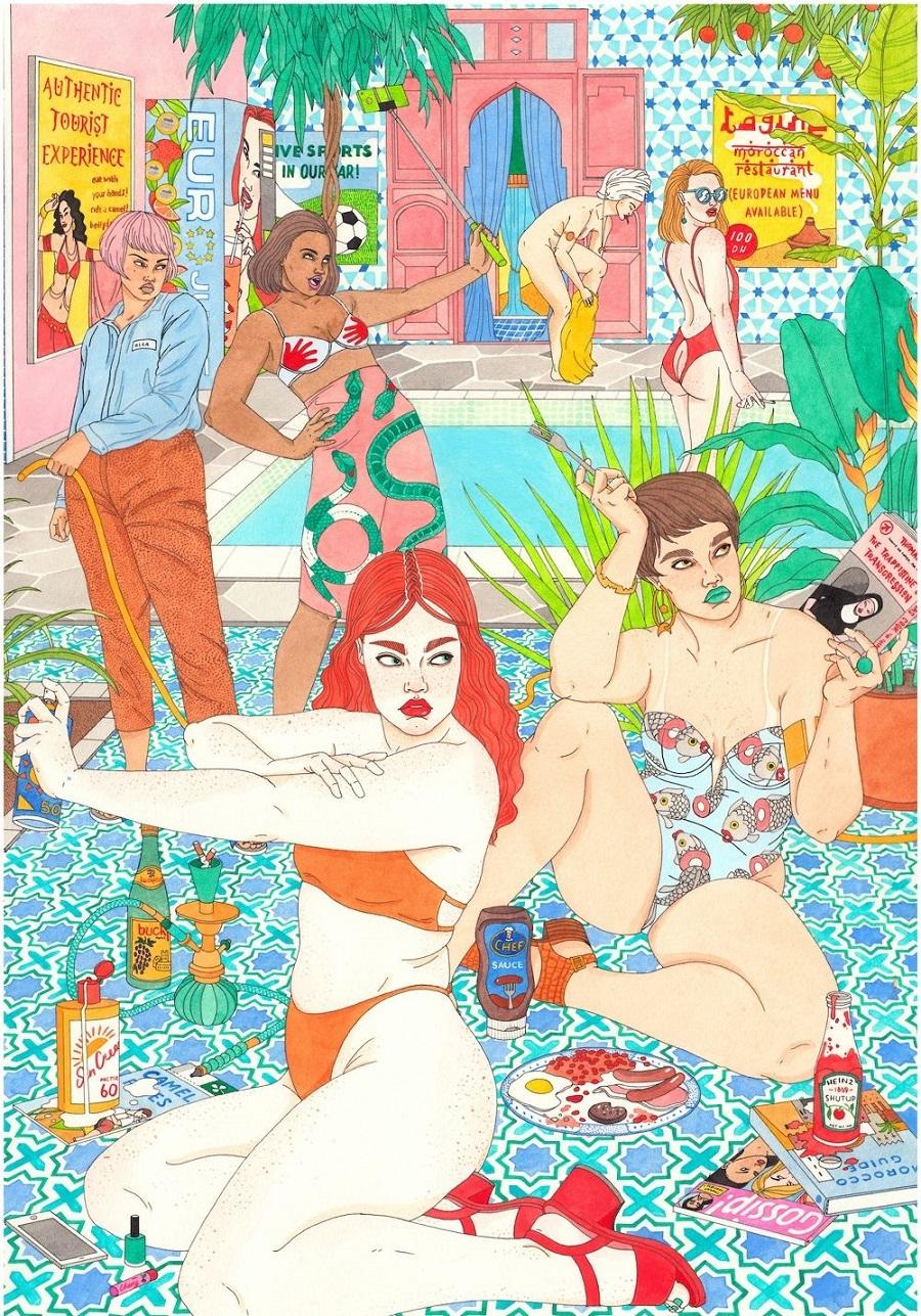 Laura-Callaghan-realizza-illustrazioni-dal-mood-anni-80-e-90-Collater.al-6-1.jpg