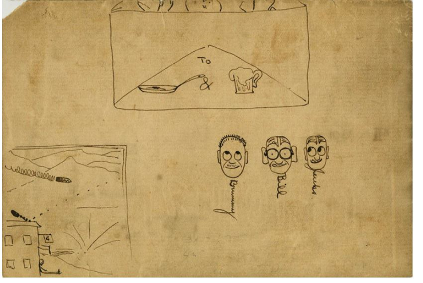 Объяснение письма-пиктограммы от друзей Хемингуэя скорой, помощи, Брамми, всегда, Разное, Агнес, ожидали, Блейкли, Бейтс, которое, Билла, атаки, такой, потому, письма, здесь, Хемингуэй, Дальше, получил, униформу