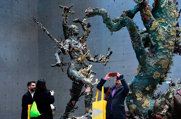 A-sculpture-called-Hydra-and-Kali-is-pictured-during-the-press-presentation-of-the-exhibition-Treasures-from-the-Wreck-of-the-Unbelievable.jpg