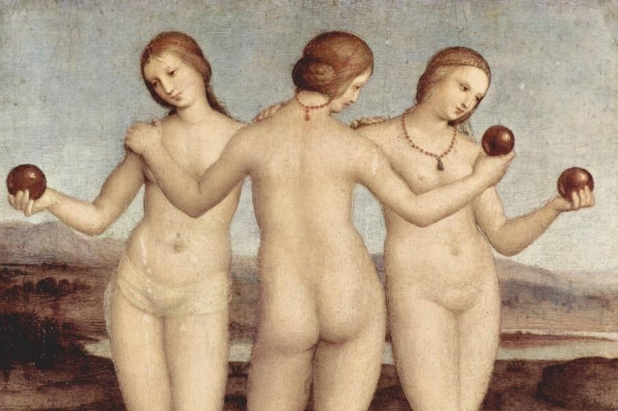 Три грации вдохновляли художников от Боттичелли до Пикассо