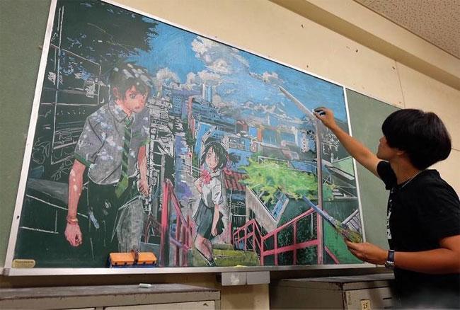 Рисунки на школьных досках японских школ (1).jpg