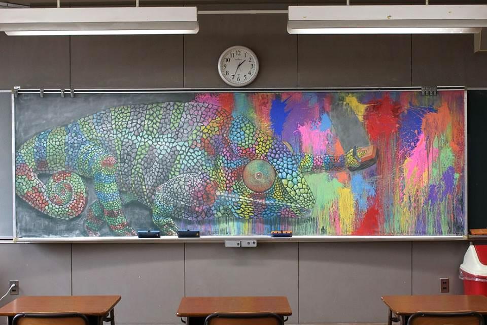 Рисунки на школьных досках японских школ (3).jpg