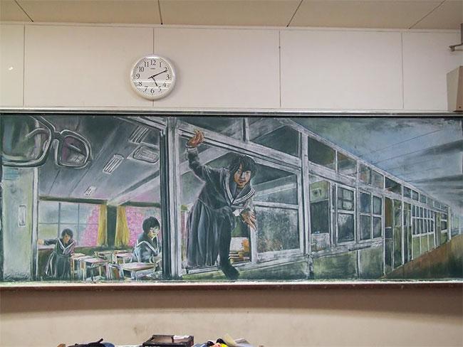 Рисунки на школьных досках японских школ (4).jpg