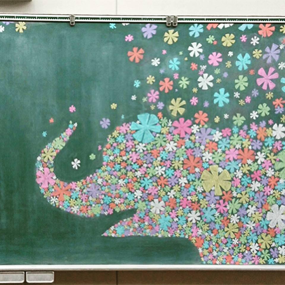 Рисунки на школьных досках японских школ (13).jpg