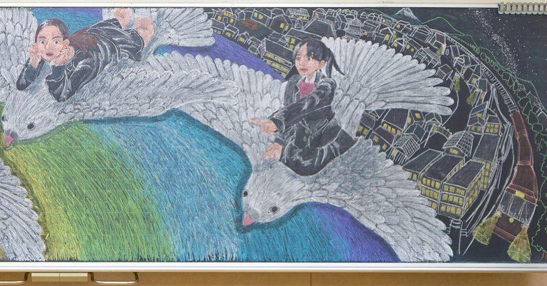 Рисунки на школьных досках японских школ (21).jpg