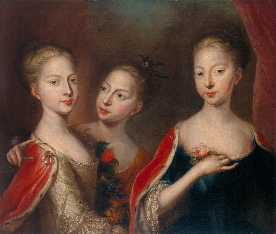 Почему на портретах молодых дам писали голую грудь, или открой соски Princesses_Anne_Amelia_and_Caroline_-_Maingaud_1721-930x787.jpg
