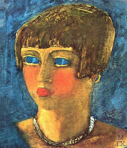 Девушка в голубом 1929.