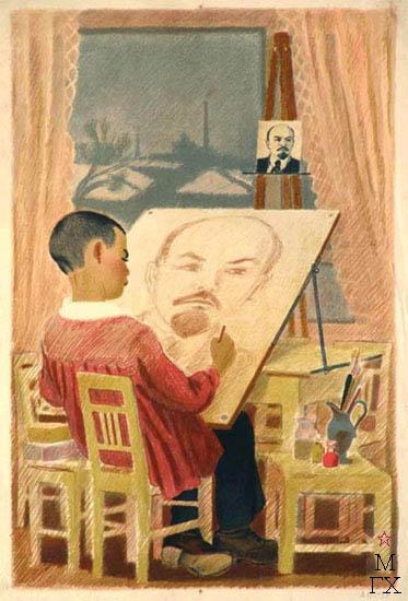 Рисую Ленина. 1939.