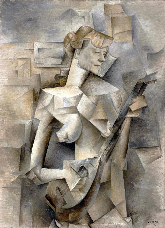 Пабло Пикассо, 1910, Девушка с мандолиной (Фанни Телье), Ангела Меркель..jpg