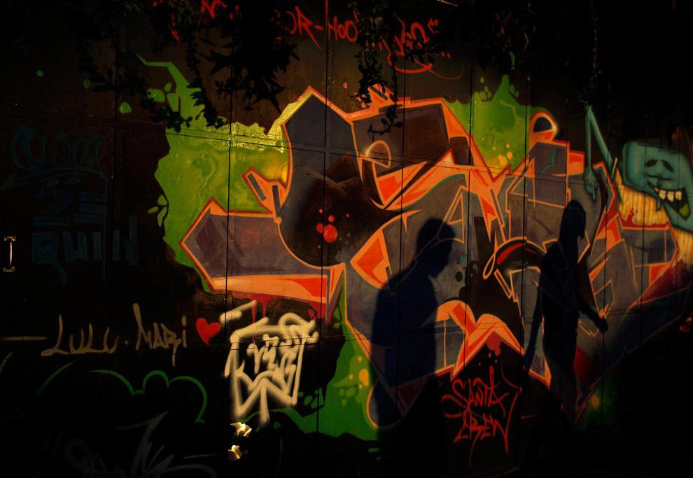 граффити на стене в Рио-де-Жанейро Бразилия 11 мая 2013 года