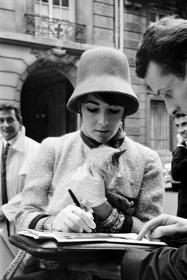 While returning to Paris from a trip to Russia, Taylor proved herself capable of simultaneously signing an autograph and stroking the nape of a myste…