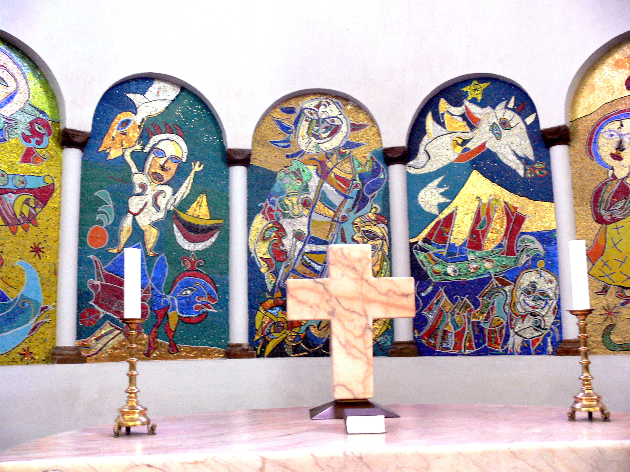 Собор в Рибе, Мозаики Педерсена в апсиде хора..jpg