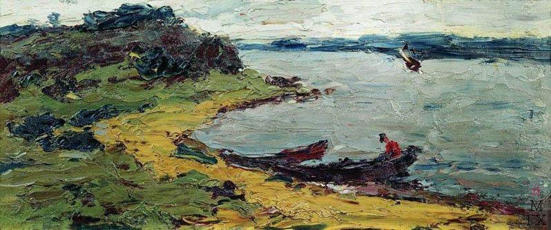 На Белом море. 1902-1912. Холст, масло. 17.5 x 40.5. Частное собрание.
