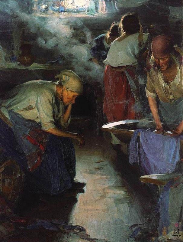 Прачки. Конец 1890-х. Холст, масло. 91x70. Государственная Третьяковская галерея