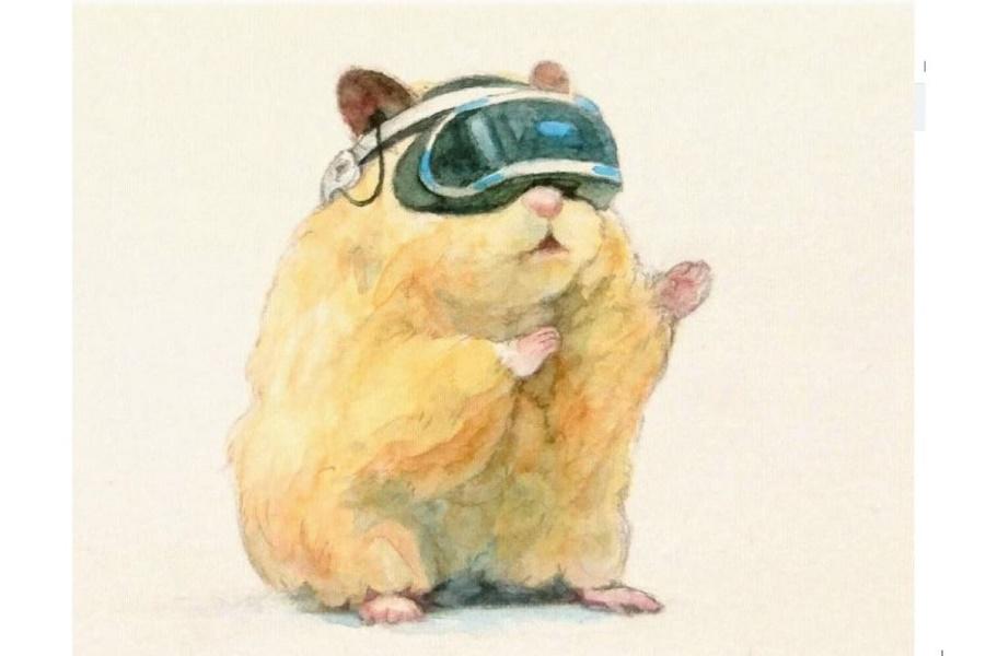 Звезда инстаграма Сукероку - хомяк акварельный, необыкновенный