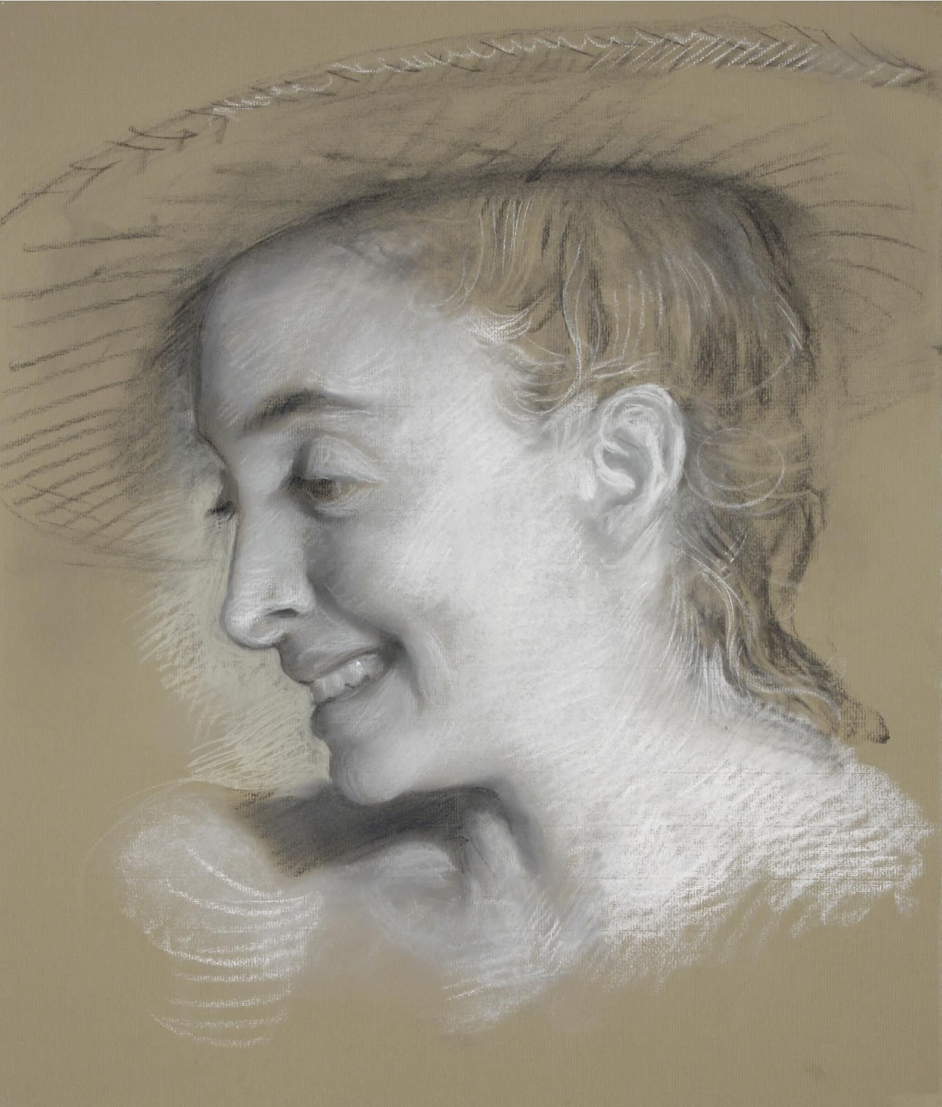 John Currin  Rachel Laughing pastel.jpg